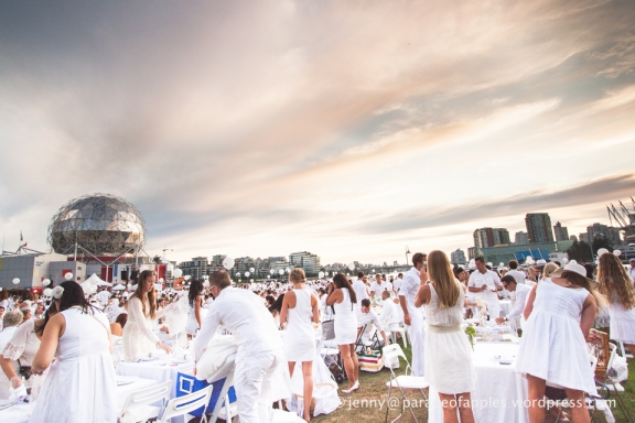 Le Dîner en Blanc held by Science World this year.