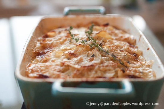 Parsnip and Thyme au Gratin